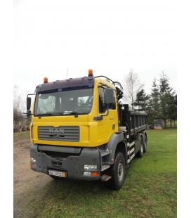 Samochód Ciężarowy marki MAN TGA 26.410 6x6 wywrot 3-stronny + HDS