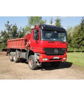 Samochód ciężarowy marki MERCEDES-BENZ Actros 3335AK 6x6 wywrot 3-stronny + HDS